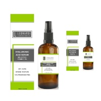 3 x Pure 100% Hyaluronic Acid Serum + Vitamin C  100ml with Serum Pump x Pure 100%